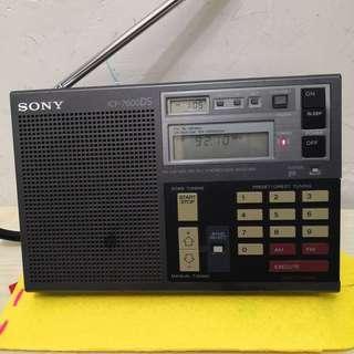 80%new日本製絕版中古sony 收音機