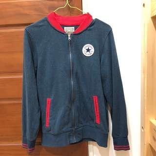 🚚 converce all star 外套 古著 復古藍紅配色 夾克 棒球外套