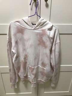 Forever 21 tie dye hoodie PINK