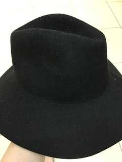 Vintage Wool black hat from Japan