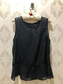 H&M Black Peplum Top