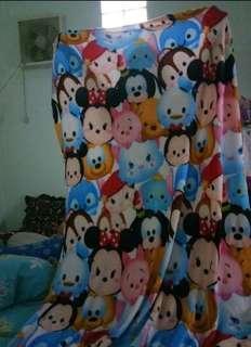 selimut bulu halus motif tsum tsum 140x190 murah berkualitas impor