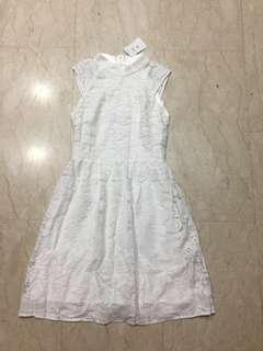 White Lace Cheongsam