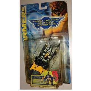 絕版 1999年 Hasbro TRANSFORMERS 變形金剛 Beast Machines Mirage 跑車 action figure 1款