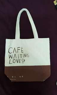等一个人咖啡tote bag~九把刀