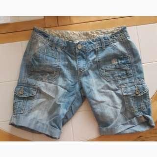 Midi jean shorts size 5
