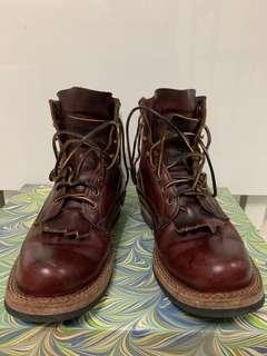 Whites Burgundy Horween Leather Boots [Made in USA]