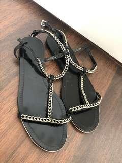 Zara chain sandals size 10