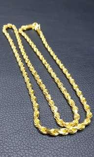 916 gold necklace 96.3g, 71.5cm, 5mm thick