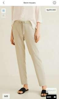 Denim trousers woman mango original