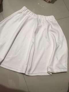rok putih korea rok putih midi import murah