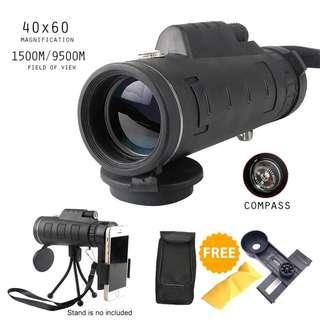 ALX Mini Lightweight Monocular Binoculars Telescope 40x60