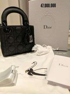 Dior Mini all black - lady dior