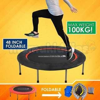 48-inch 4 Folds  Foldable Trampoline Kids & Adult Fitness Bouncer