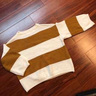 復古條紋毛衣