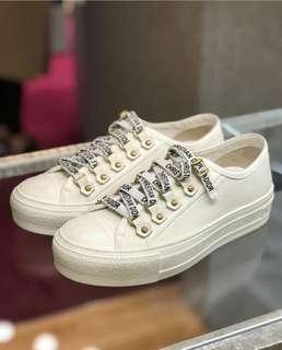 Dior - walk n Dior low top sneakers in white canvas