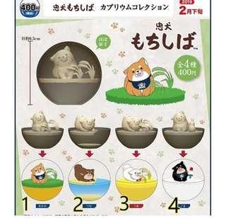 柴犬 忠犬 水晶球扭蛋 玩具 擺設 日本 公仔 景品 景觀球