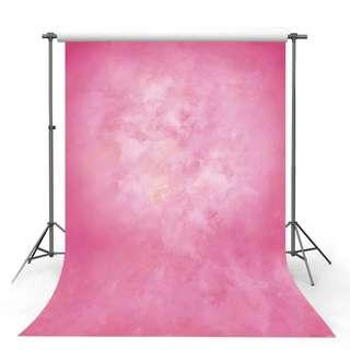 CLOUDY/DYED PINK Photo Video Background