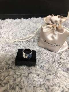 DIOR迪奧 經典老花寬版戒指