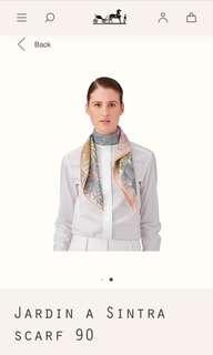 🚚 Hermès 【辛特拉花園】真絲絲巾 批肩 圍巾