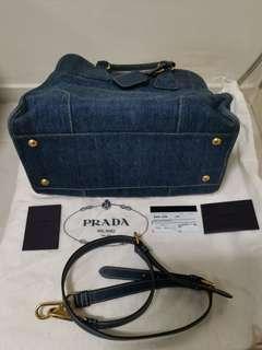 Authentic Prada Demin Bag