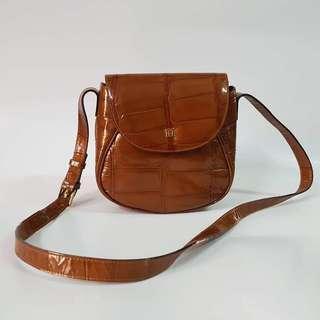 Aigner Pattern Leather Sling Bag