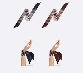 Dior MITZAH老花時髦小絲帶 絲巾 束髮帶