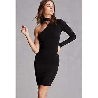 Brand New Black Marciano One Sleeve Dress with Chest Cutout