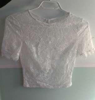 White lace shirt small
