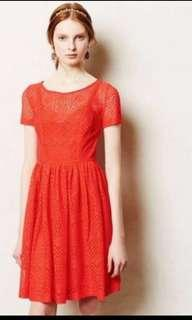 ANTHROPOLOGIE Plenty Full Skirt Dress