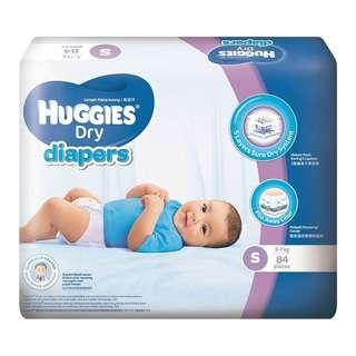 Huggies dry pampers size S