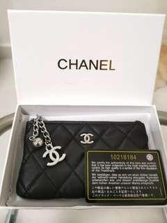 Chanel zipped wallet