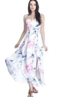 🚚 Fayth Island Floral Maxi Dress (inspired)