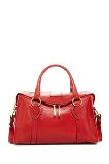Marc Jacobs Small Wellington Fulton Leather Satchel (Red)