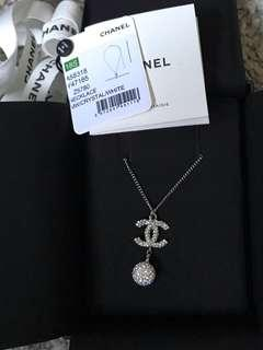 🔥 $530 ONLY!! BNIB - Chanel White Strass Adjustable Necklace