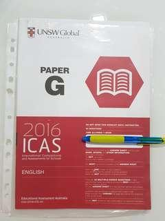 🚚 ICAS ENGLISH /SCIENCE 2016 PAPER G