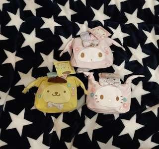 台灣直送 Sanrio 卡通兔仔造型化妝袋