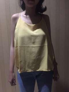 Yellow Top / halter tank / colorbox top