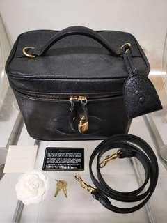 Authentic Chanel Vanity Caviar Leather Bag