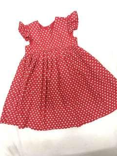 Mothercare generous sizing red hearts dress valentines