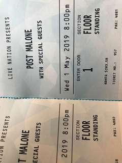 Post Malone General Admission Tickets Melbourne