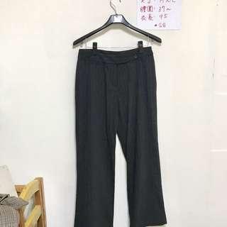 🚚 全新黑色直條紋褲💕
