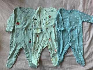 Next UK Baby Sleepsuits Onesies Bodysuits Set