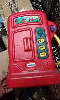 Little tikes gasoline pump red