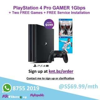 PS4 Pro + 2 Free Game