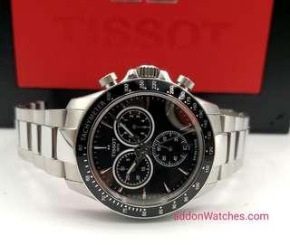Tissot V8 Chronograph Black Quartz Watch