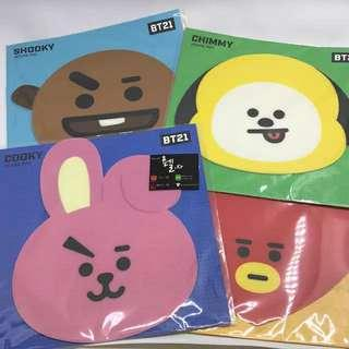 Mouse pad bt21 ready stock official
