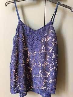 Authentic, brand new Aijek lace top