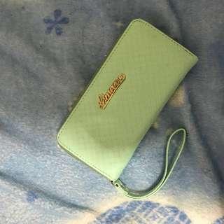 蒂芬妮綠長夾 全新 大容量可放8張卡跟手機