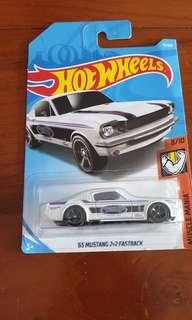 Hotwheels 1965 Ford mustang fastback